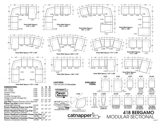 Model: Bergamo Power Headrest Lay Flat LSF Recliner w/Extended Ottoman- | Bergamo Power Headrest Lay Flat LSF Recliner w/Extended Ottoman