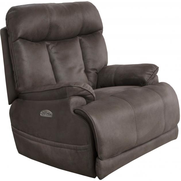Amos Power Headrest Power Lay Flat Recliner w/ Extended Ottoman