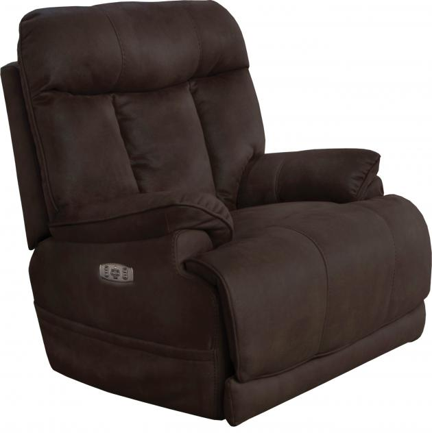 Model: Amos Power Headrest Power Lay Flat Recliner w/ Extended Ottoman-645627 | Amos Power Headrest Power Lay Flat Recliner w/ Extended Ottoman