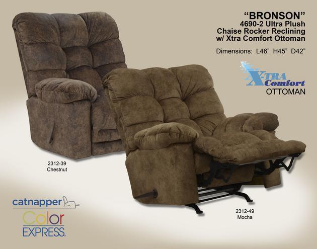 Catnapper Bronson Chaise Rocker Recl w/Xtra Comfort