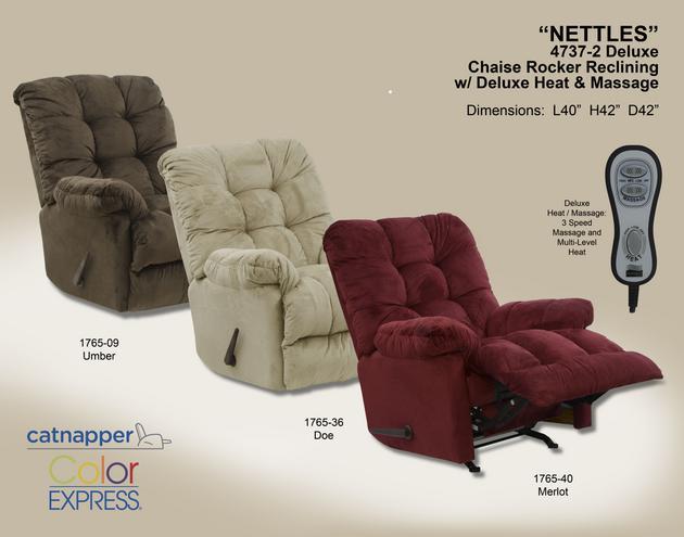Nettles Chaise Rocker Recl w/Deluxe Heat/Massage