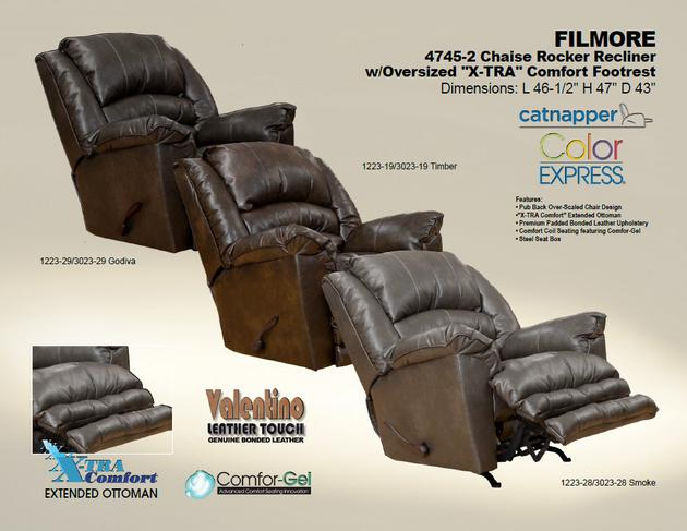 Filmore Chaise Rocker Recliner - Oversized X-tra Comfort Footrest