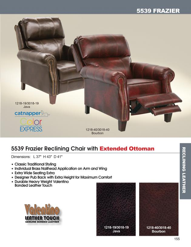 Excellent Catnapper Frazier Reclining Chair W Extended Ottoman 5539 Pdpeps Interior Chair Design Pdpepsorg