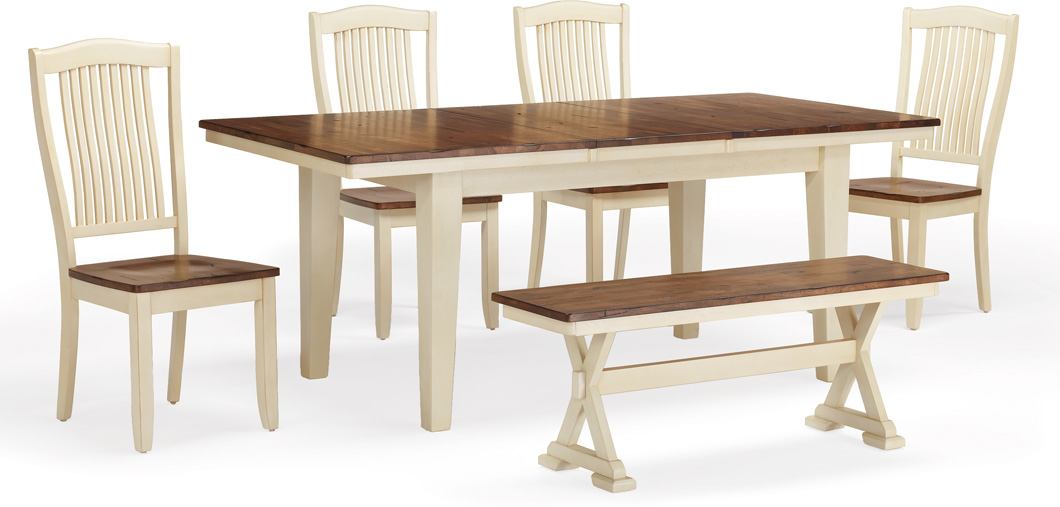 Chromcraft Table Legs: Standard Height (buttermilk)