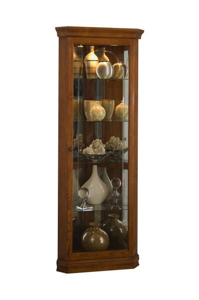 Pulaski Golden Oak Mirrored Corner Curio