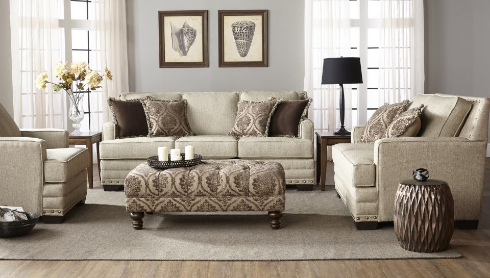 Hughes Furniture 10100 STOAGE OTTOMAN