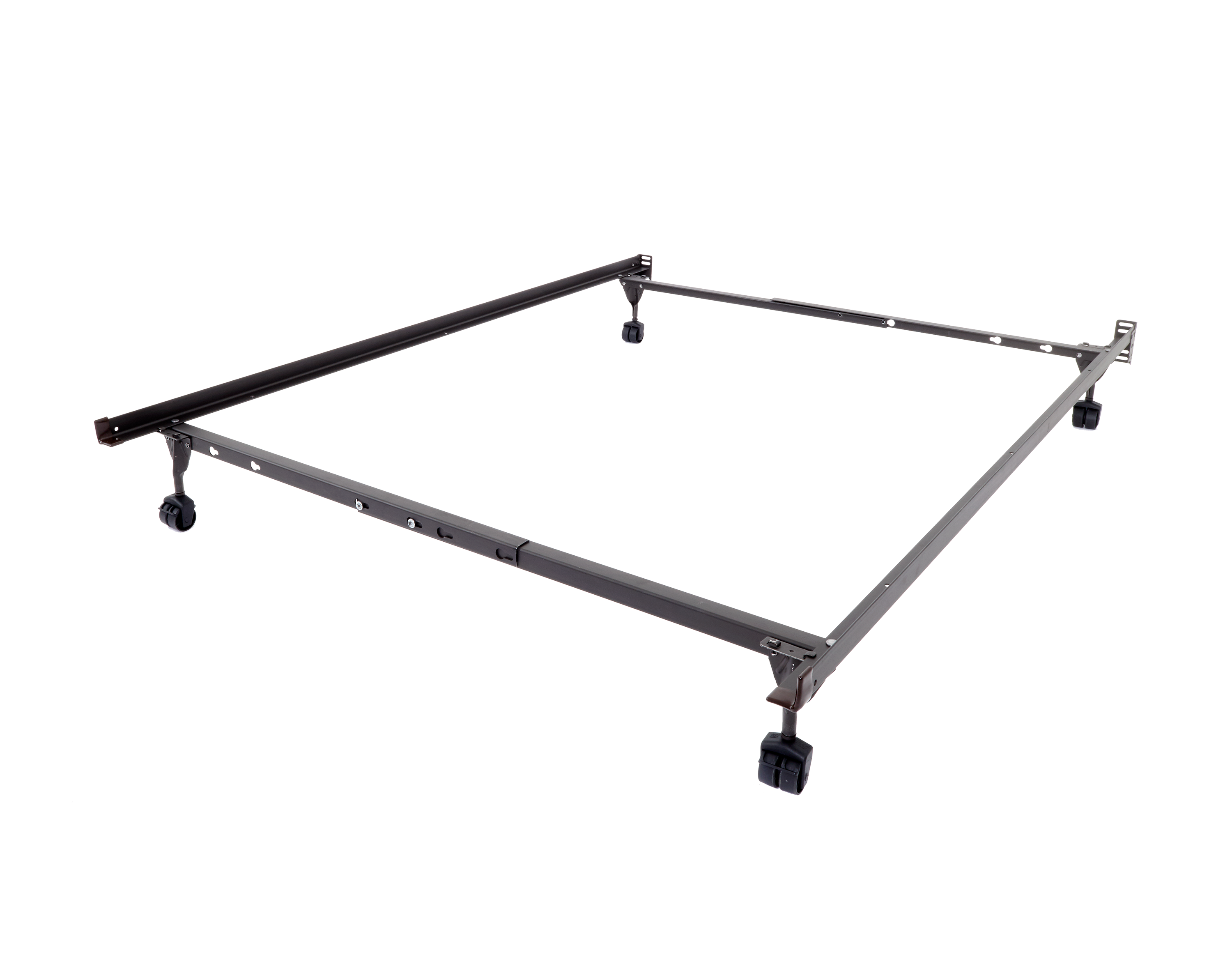 Mantua Insta-Lock I-114XLW Twin/Full/Queen Bed Frame with Rollers