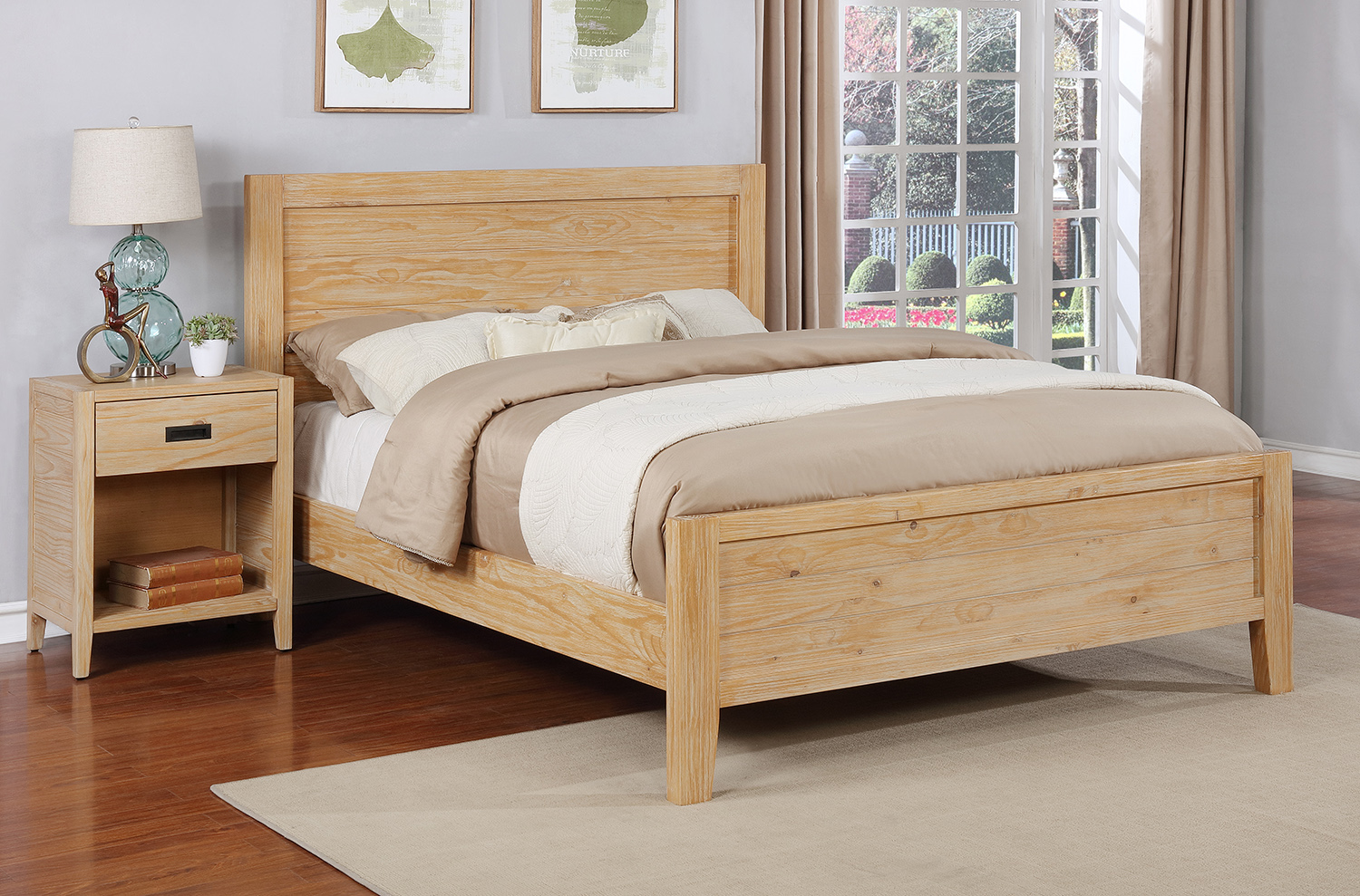 Alstad Platform Bed - King, Natural