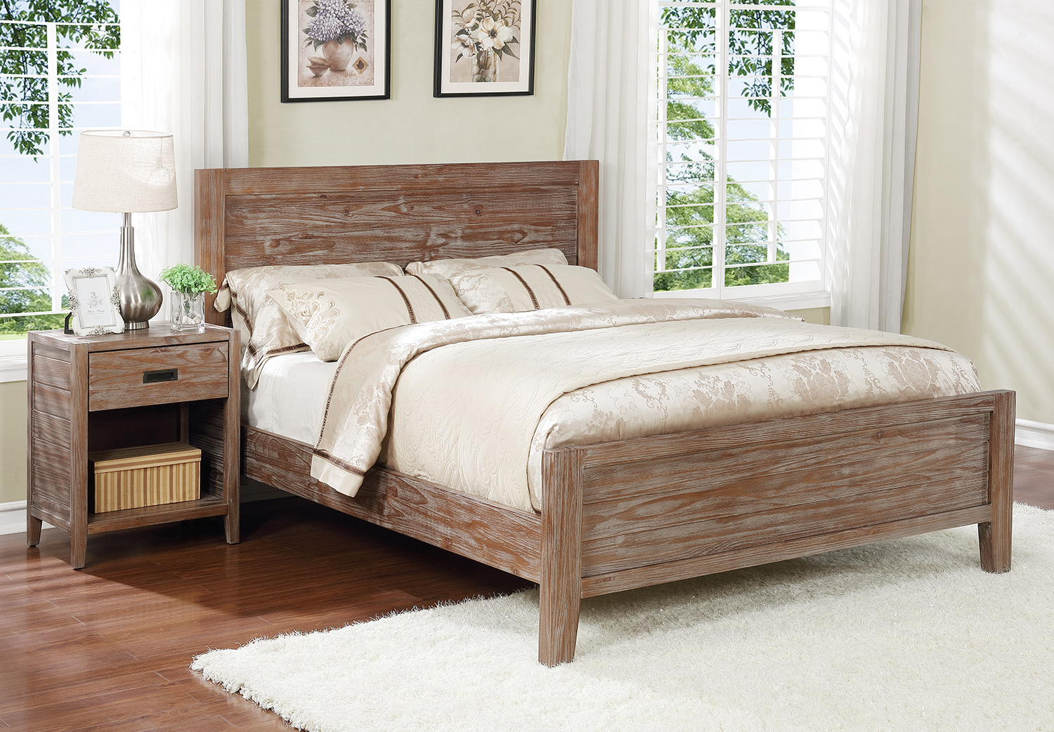 Alstad Platform Bed - California King, Pine Cone
