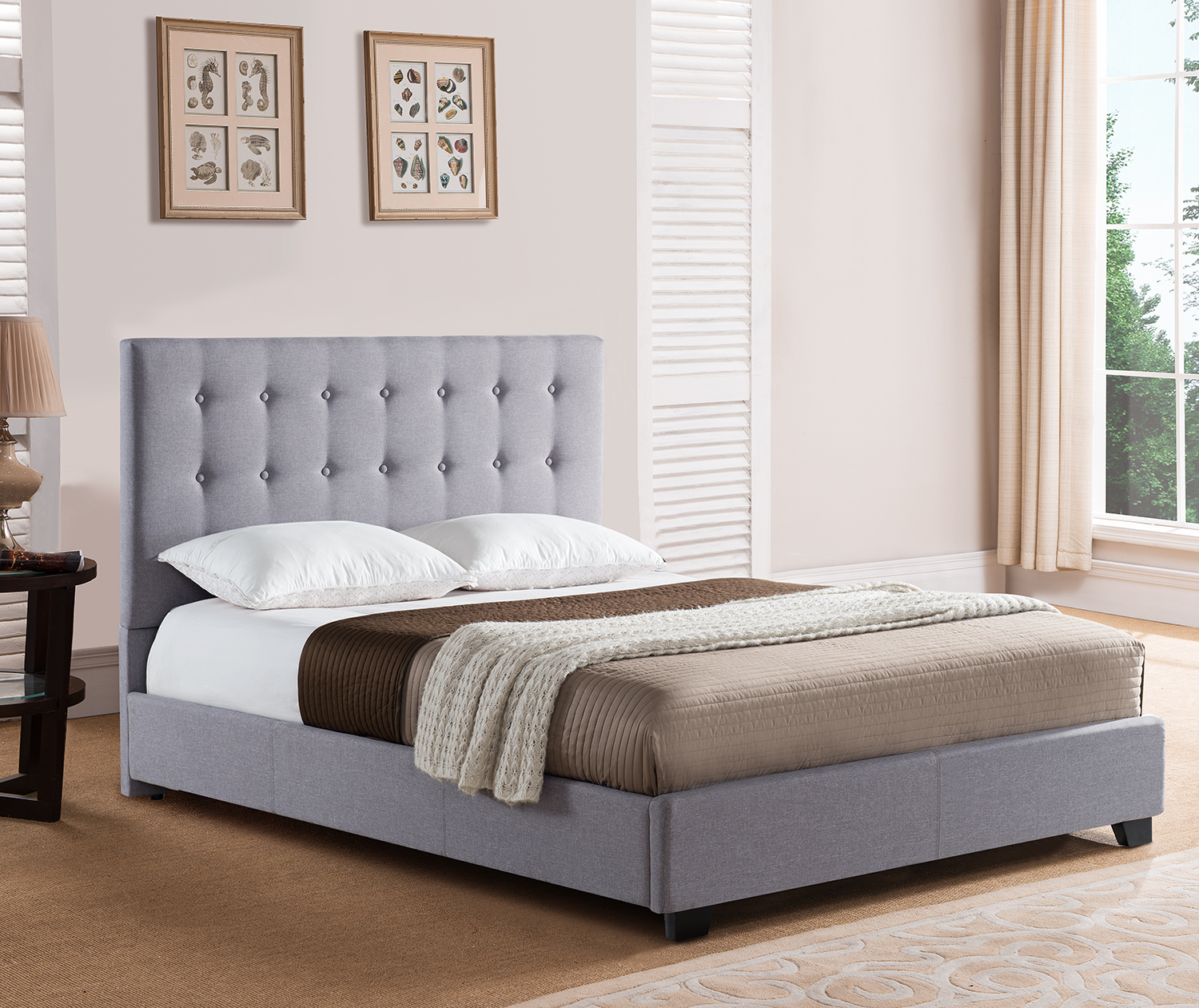 Mantua Str66mg Stratford Platform Bed King Grey Str66mg Park Home