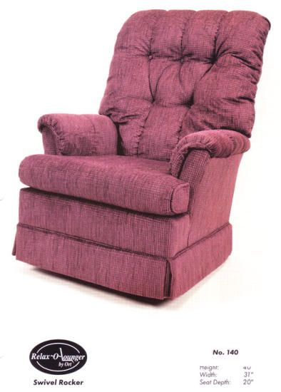 Ort Manufacturing 135 Contemporary Swivel Glider