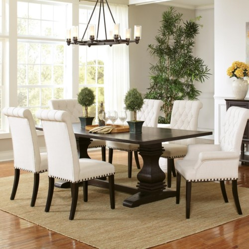 Model: 107411 | Coaster Parkins Double Pedestal Dining Table