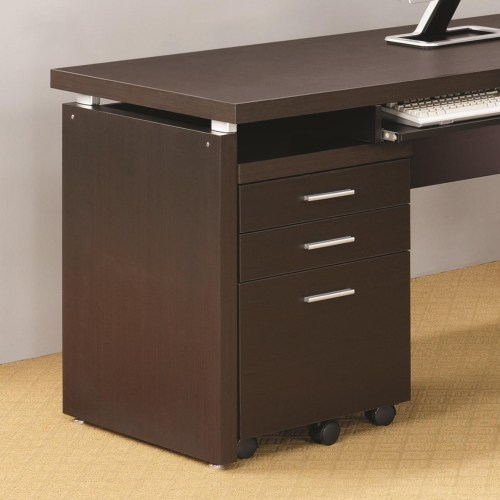 Coaster Skylar Mobile Pedestal with 3 Drawers and Casters