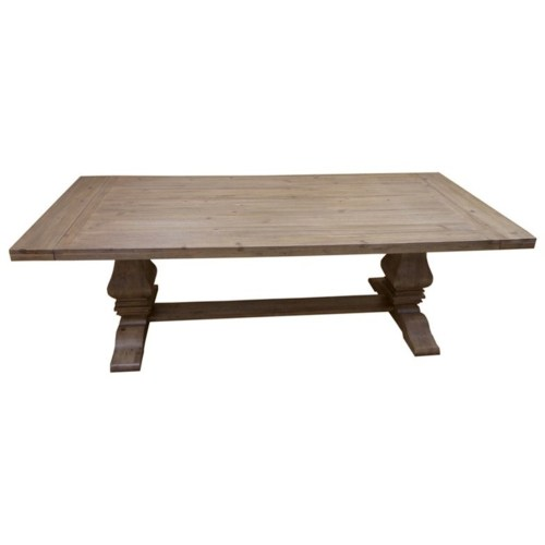 Coaster Florence Rectangular Double Pedestal Dining Table