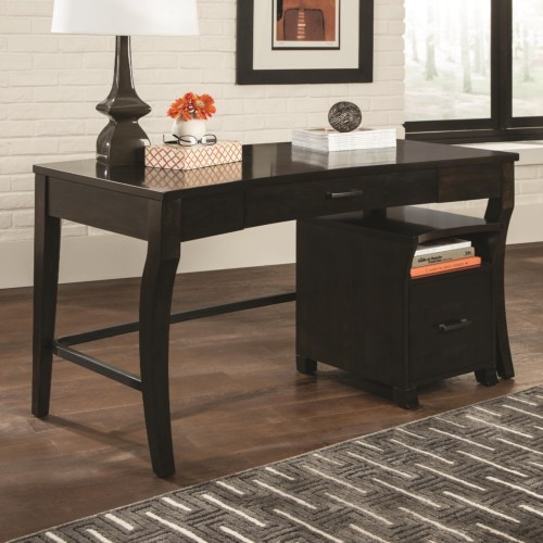 Coaster 80175 Transitional Writing Desk with Curved Legs
