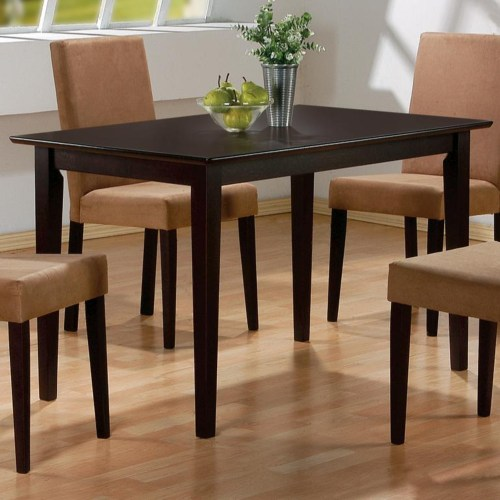 Coaster Mix & Match Rectangular Casual Dining Leg Table