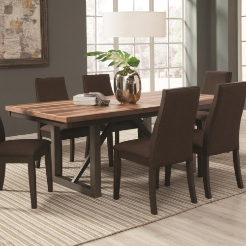 Coaster Spring Creek Dining Table with 18'' Extension Leaf