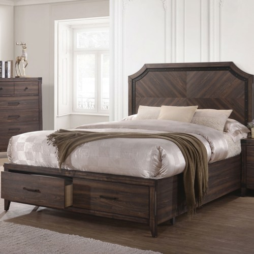 Coaster Richmond Queen Platform Bed with Storage Footboard