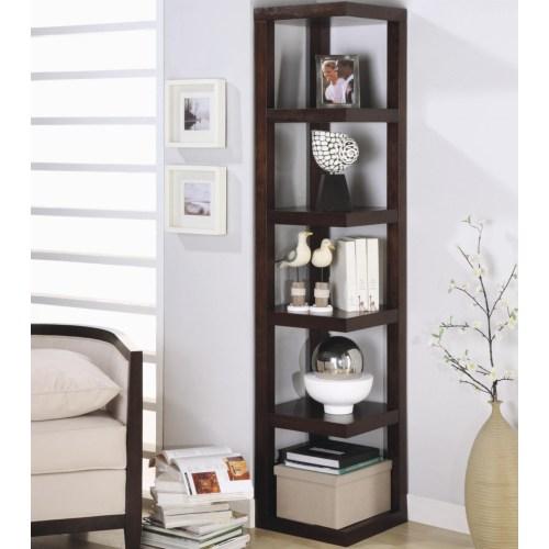Coaster Bookcases Contemporary Corner Bookcase