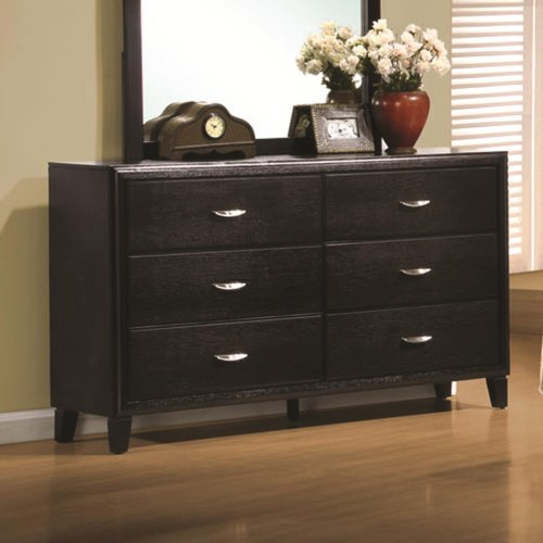 Coaster Nacey Stained Black 6 Drawer Dresser