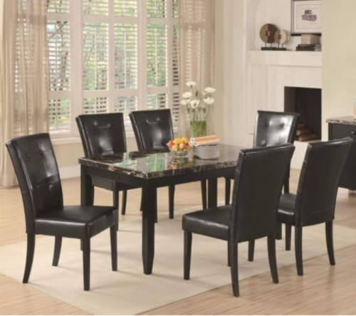 Coaster 102791 6x102772 Anisa 7 Piece Dining Table And Chairs Set 102791 6x102772 Reese Warehouse