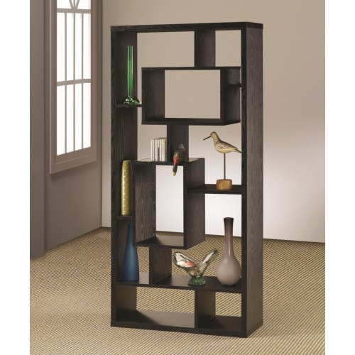 Coaster Bookcases Asymmetrical Cube Book Case with Shelves