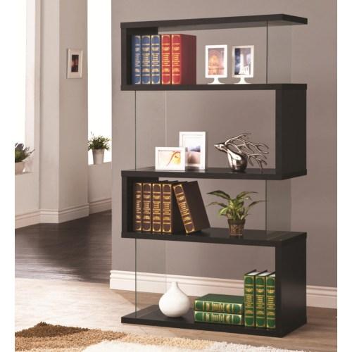 Coaster Bookcases Asymmetrical Snaking Bookshelf