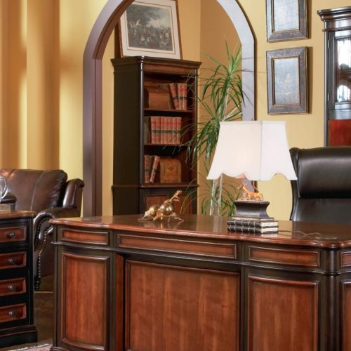 Coaster Pergola Open Bookcase with Lower Cabinet Doors