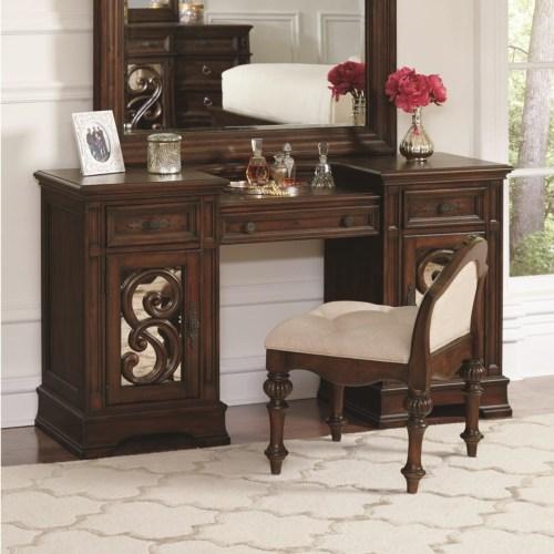 Coaster Ilana Vanity Desk with Three Drawers