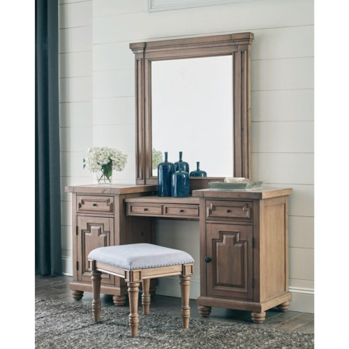 Coaster Florence Rustic Two-Tier Vanity Desk