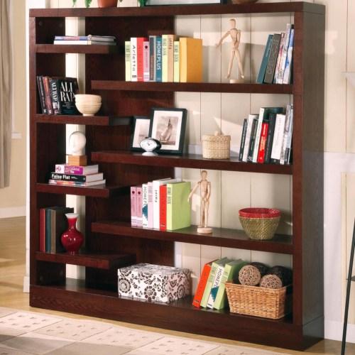 Coaster Bookcases Contemporary Asymmetrical Bookcase