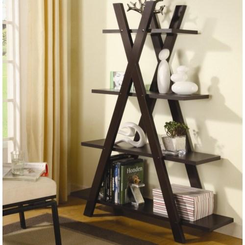"""Coaster Bookcases Contemporary """"X"""" Bookcase"""