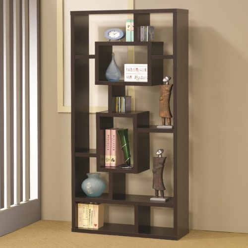 Coaster Bookcases Cappuccino Bookshelf with Rectangular Shelves