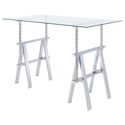 Coaster Adjustable Writing Desk with Sawhorse Legs