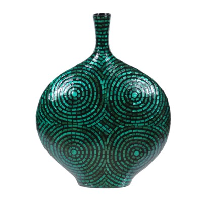 Crestview Collection VASE, MOP LACQUER