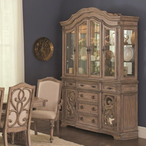 Coaster Ilana Traditional China Cabinet with Glass Doors