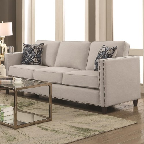 Coaster Coltrane by Coaster Transitional Sofa with Nail Head Trim