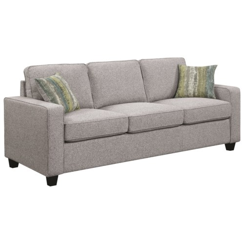 Coaster Brownswood Transitional Sofa with Track Arms