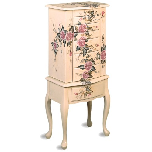 Coaster Jewelry Armoires Hand Painted Jewelry Armoire