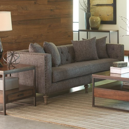 Coaster Ellery Sofa with Traditional Industrial Style