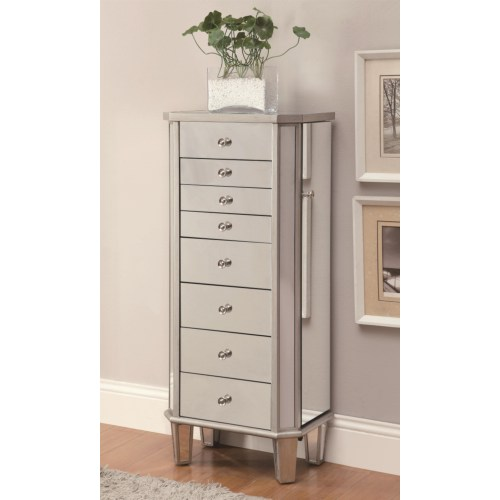Coaster Jewelry Armoires Jewelry Armoire with Flip Mirror Top