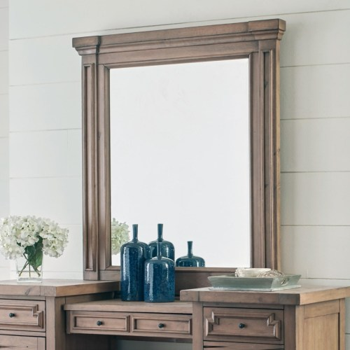 Coaster Florence Vanity Mirror with Pilasters and Molding