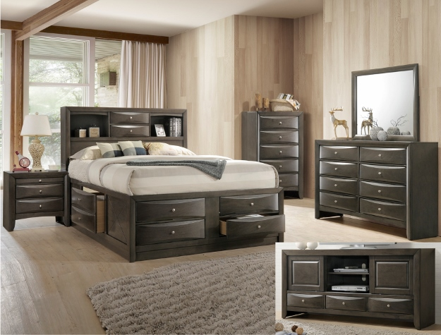 Crown Mark EMILY STORAGE BEDROO