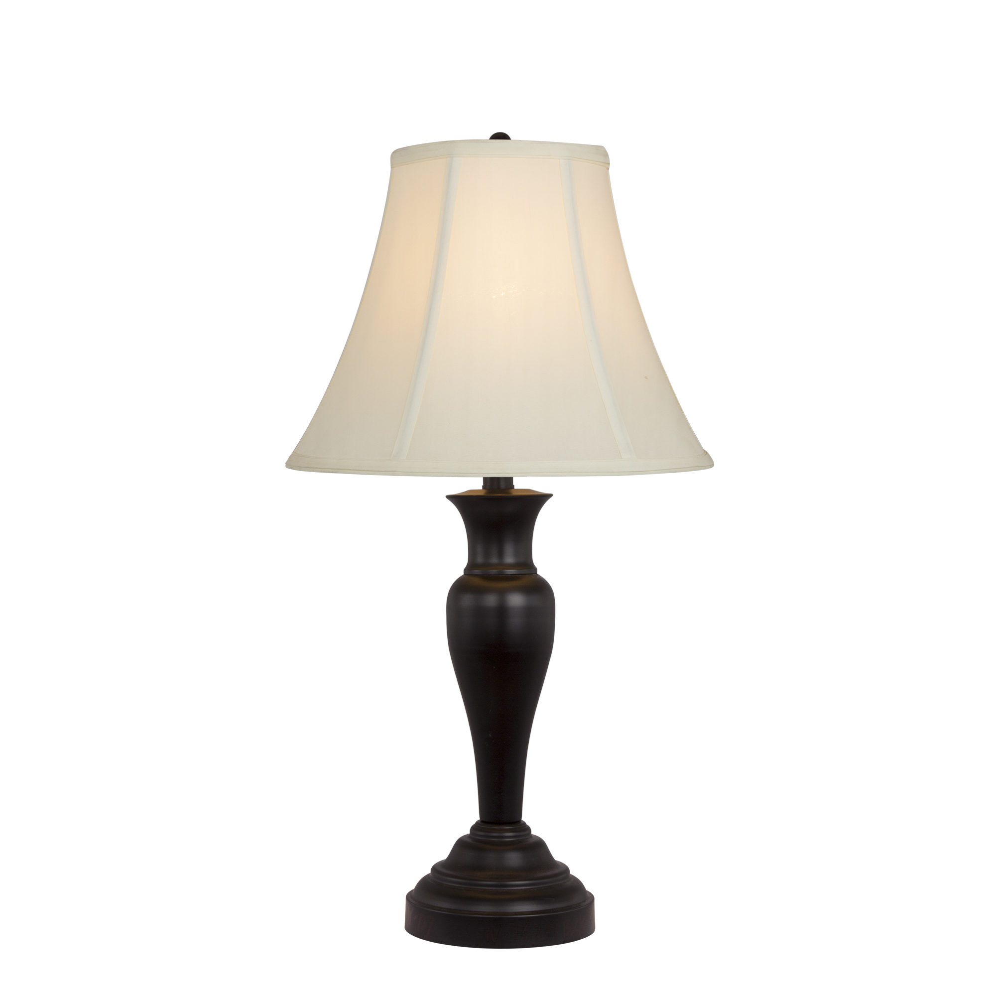 Fangio Lighting's #127 30 inch Metal Table Lamp in Black Finish