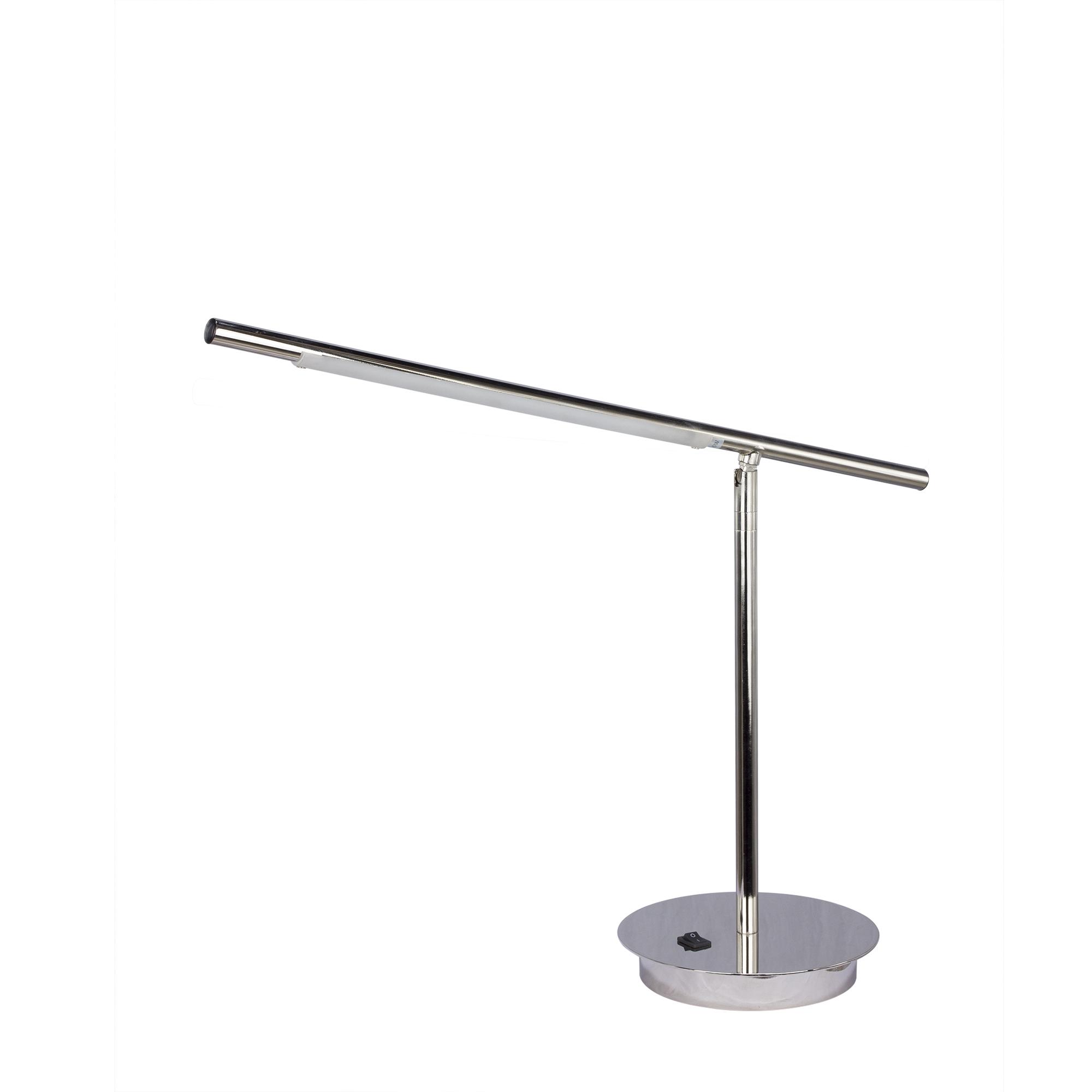 Fangio Lighting 1446SC LED Metal Table Lamp 7 x 7 x 22 Satin Chrome
