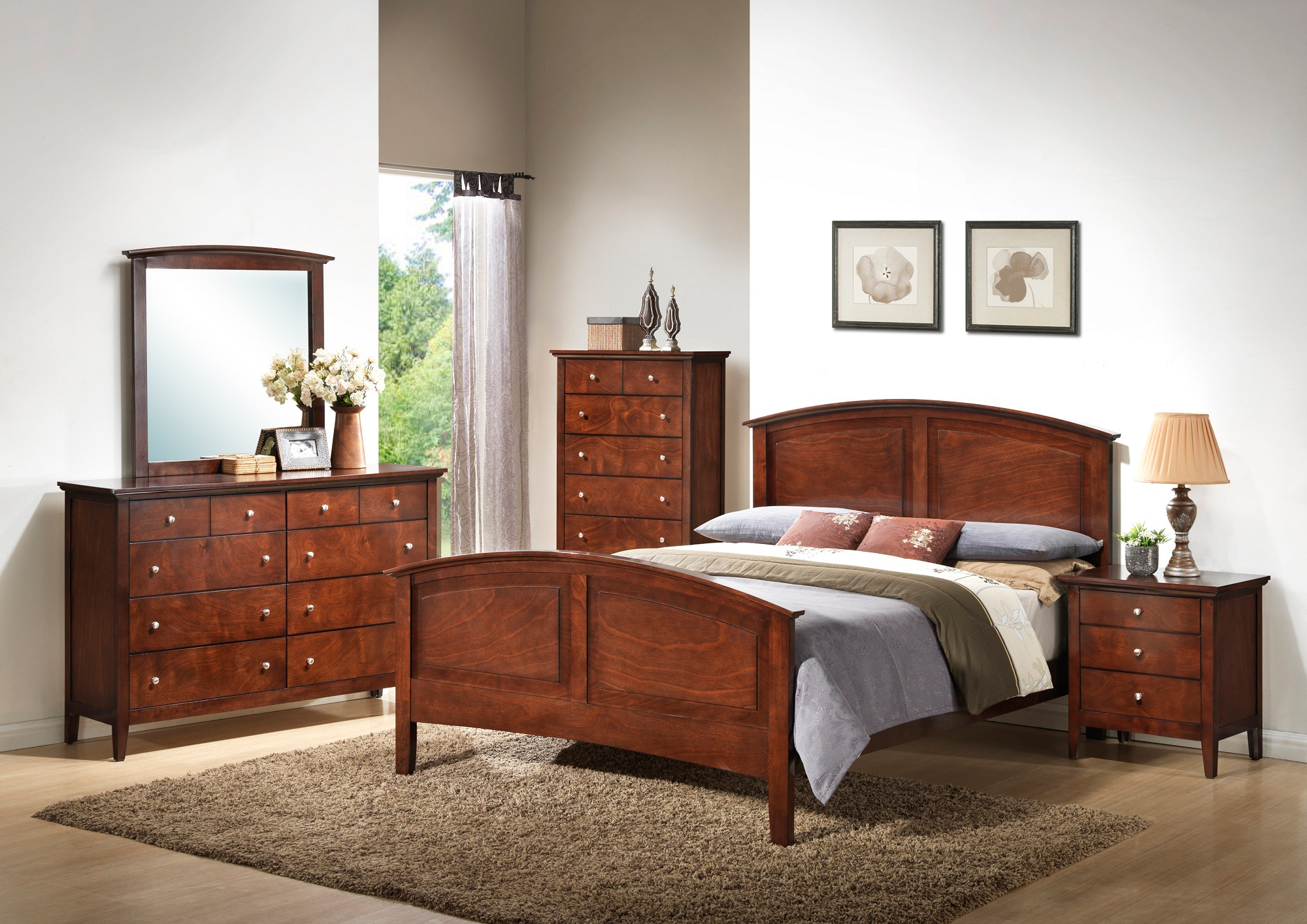 AWF C3136A-6PC-K 6 PC Bedroom