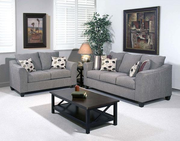 Crossroads Furniture 1225LS Loveseat Flyer metal and pillows in Roxanne Rio