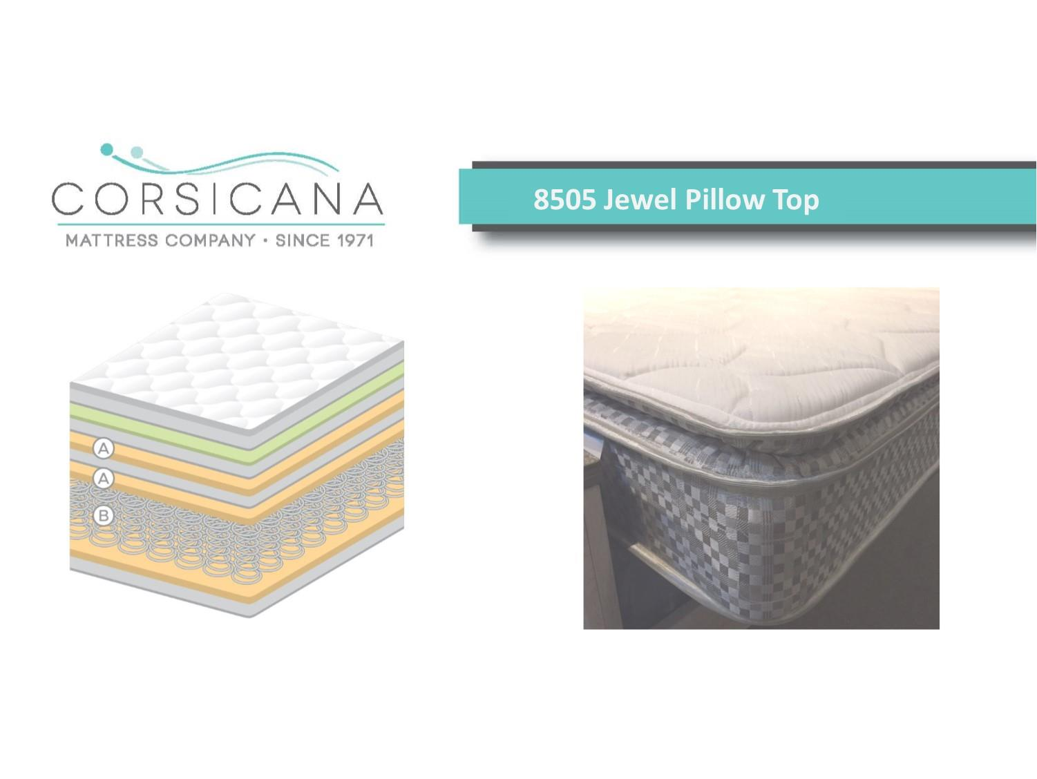 Crossroads Furniture 8505 Corsicana Jewel Pillow Top - Twin