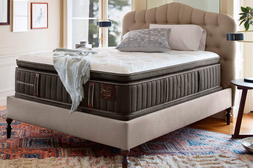 Model: 51875462 | Stearns And Foster Scarborough Luxury Firm Euro Pillow Top Advanced AdaptFoam California King