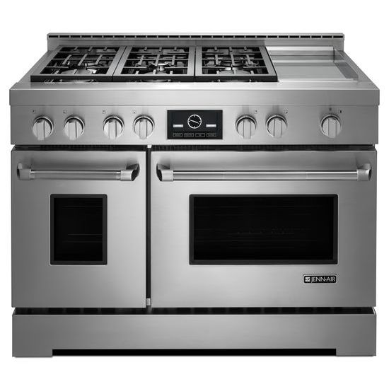 Pro-Style® Gas Range with Griddle and MultiMode® Convection, 48
